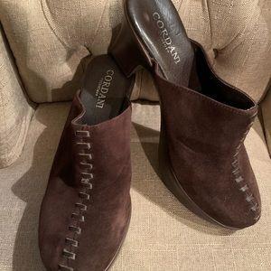 Cordani brown suede clogs size 39/9